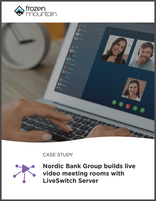 Live Video Meeting Conferencing with WebRTC for Banking