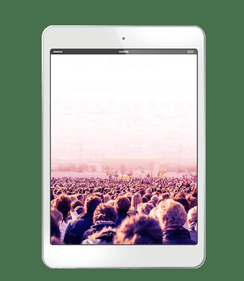 screen crowd