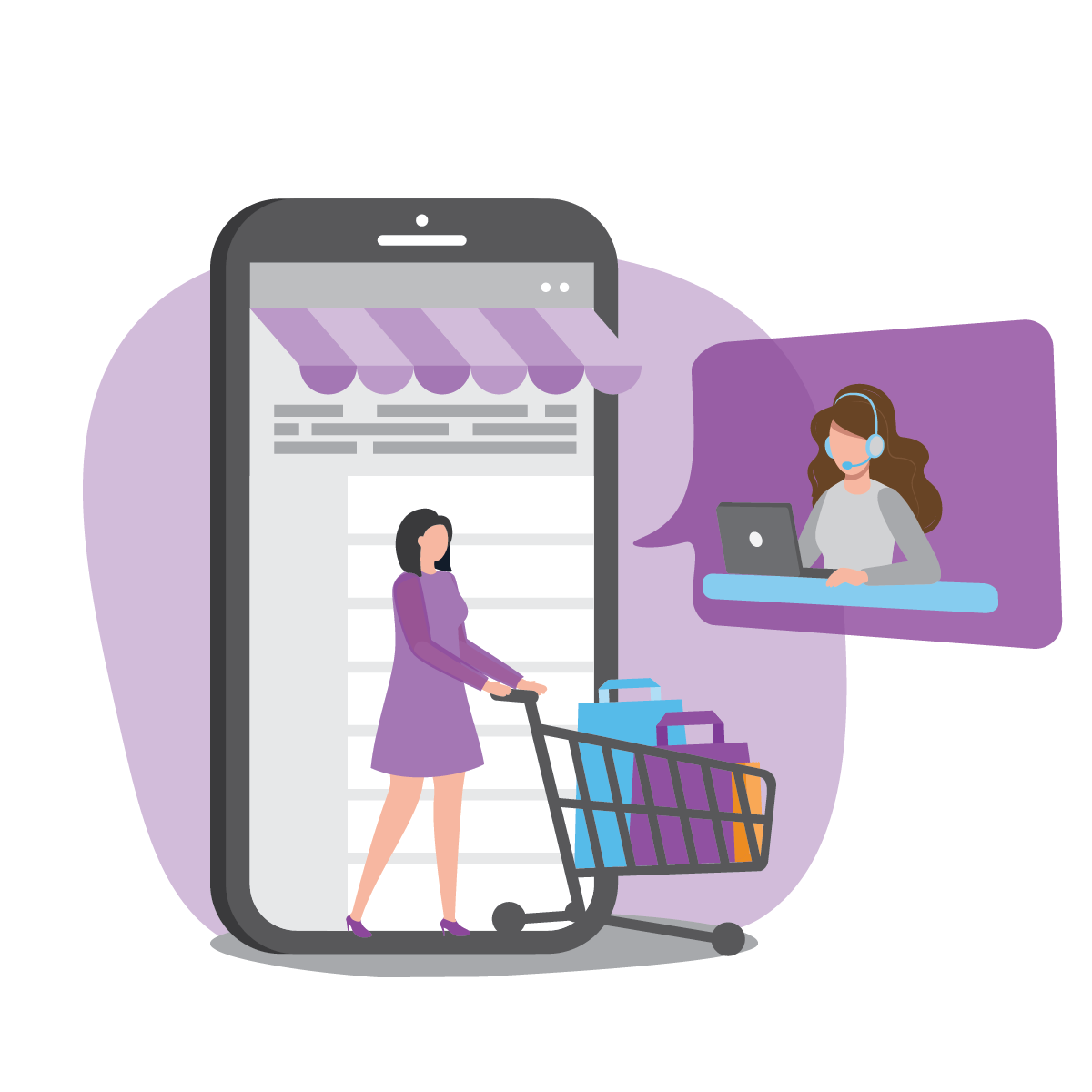 Sales Customer Service Support - Online Video Meetings, E-Commerce Real-Time Solutions
