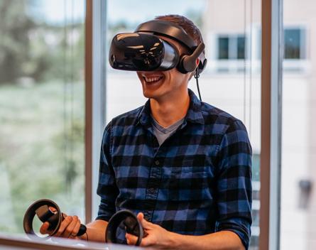 Virtual Reality Photoshoot with Frozen Mountain Employee