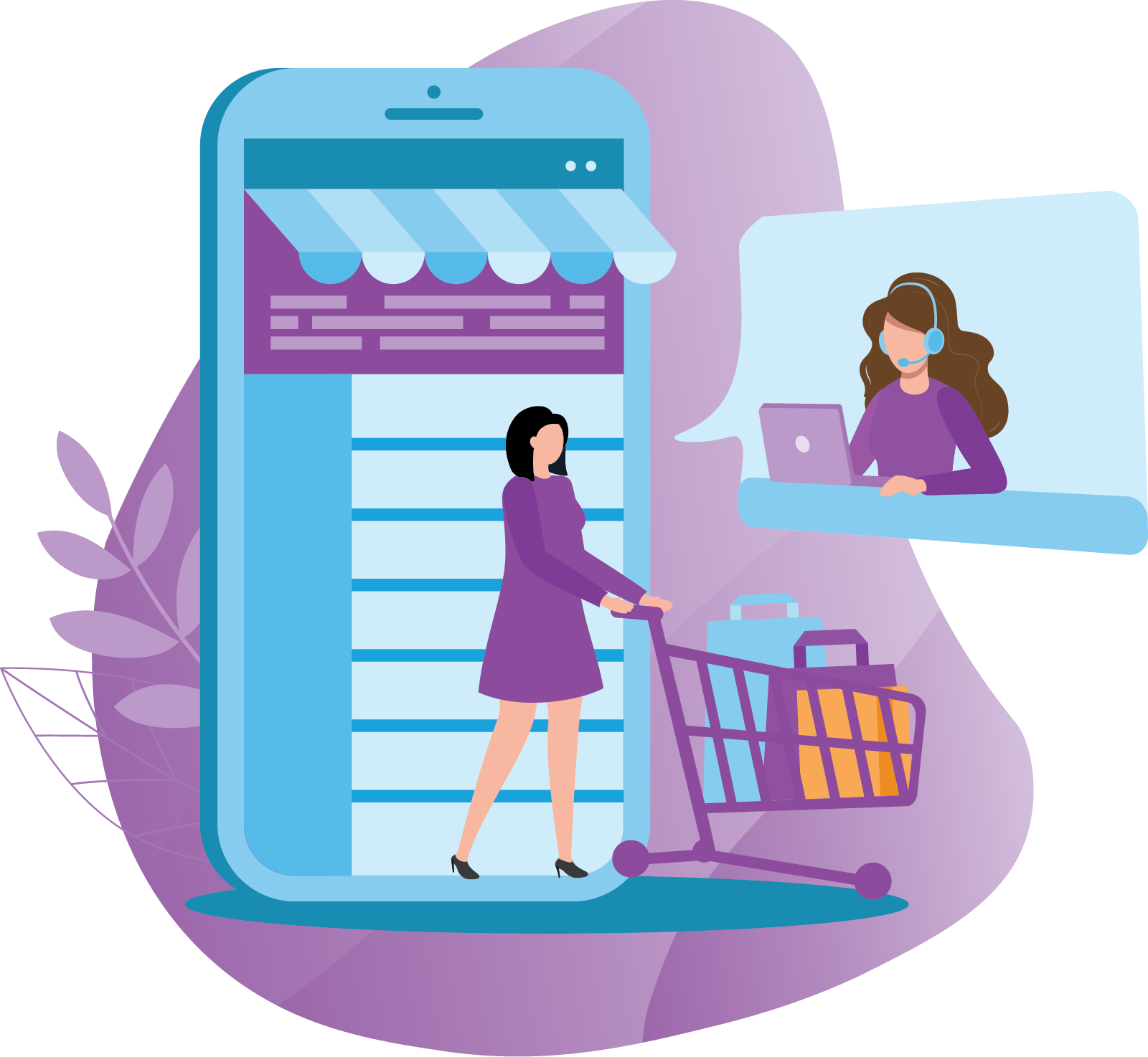 E-Commerce Support Chat Live Video Messaging
