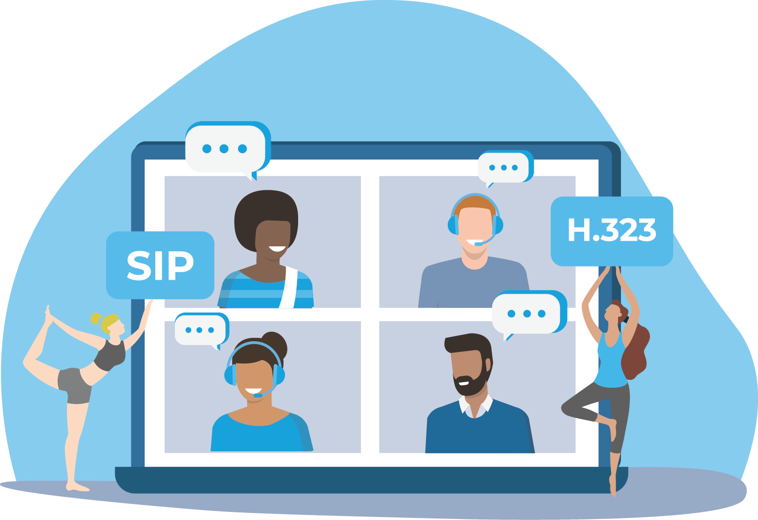 Connect WebRTC with H.323 devices and SIP providers.